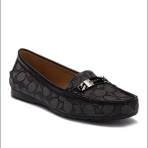 Coach Olive Metal Bit Loafers